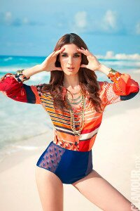 paz vega glamour cover shoot Mexico